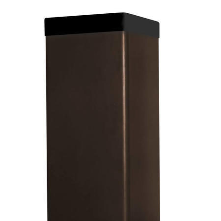 Sloupek DAMIPLAST® 60/60/1,5 Zn+ PVC hnědý  vč. krytky, 400cm - 1