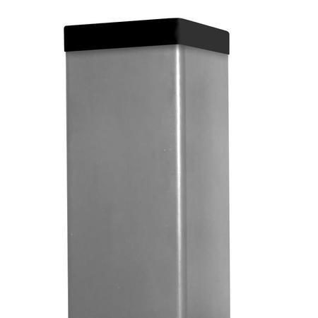Sloupek 60/60/1,5 Zn+ PVC šedý vč. krytky, 400cm - 1
