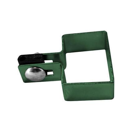 Úchyt panelu ke sloupku 80x80 mm koncový Zn+PVC zelená