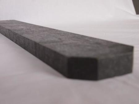 Recyklát šedá tříhranná 78x21x1500 mm, Výška 1500 mm