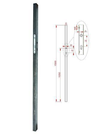 KZK Profil 60x40x1,5mm H2000 se zámkem, H-2000 mm
