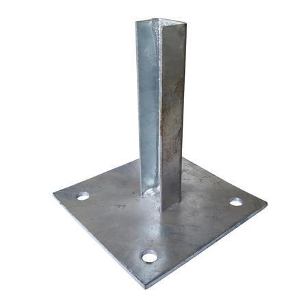 Patka s plotnou ke sloupku 38 mm Zn