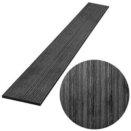 PILWOOD antracit rovná 90x15x1000 mm, Délka 1000 mm - 1