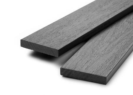 Dřevoplus profi šedá půlkulatá 138x15 mm na míru, Šedá - 1