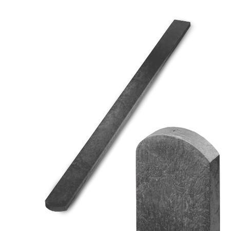 Recyklát šedá půlkulatá 78x21x1500 mm, Výška 1500 mm - 1