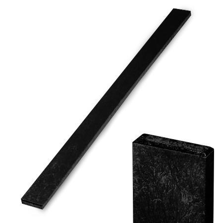 Recyklát černá rovná 78x21x1480 mm, Výška 1480 mm - 1