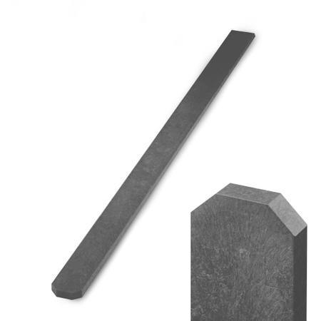 Recyklát šedá tříhranná 78x21 mm - 1