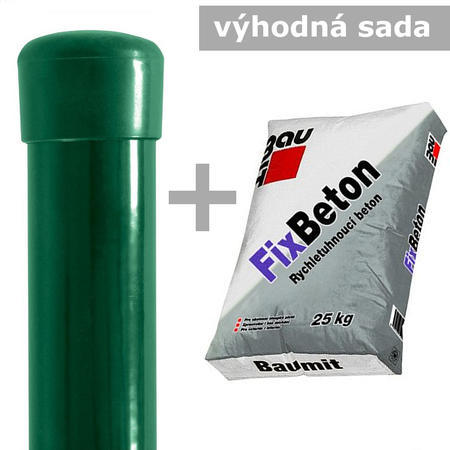 Sada Sloupek DAMIPLAST® 48/1,5/1800mm + FIXBETON 25kg, 1800mm