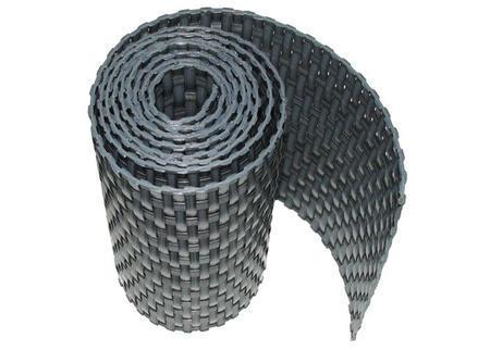 Ratanová zástěna tmavě šedá 90cm/3m, Tmavě šedá