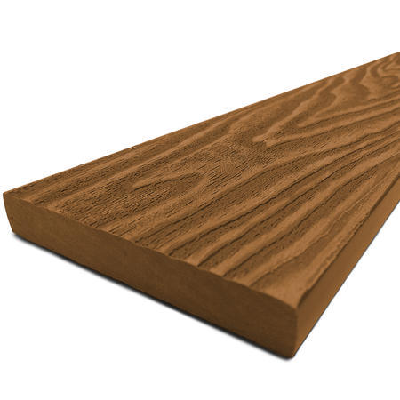 Dřevoplast WPC Premium teak rovná 85x13x1000 mm, Délka 1000 mm - 1