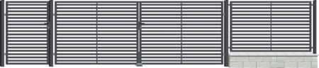 Brána dvoukřídlá s kováním ARIZONA 3500 mm, S kováním 3500 mm - 2