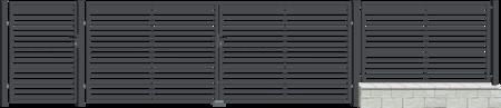 Brána dvoukřídlá s kováním ARIZONA 4000 mm, S kováním 4000 mm - 2