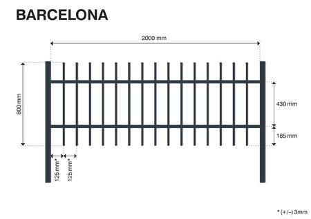 Plotové pole BARCELONA 800 mm, Výška 800 mm - 2