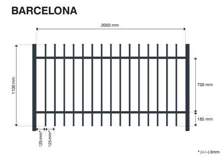 Plotové pole BARCELONA 1100 mm, Výška 1100 mm - 2