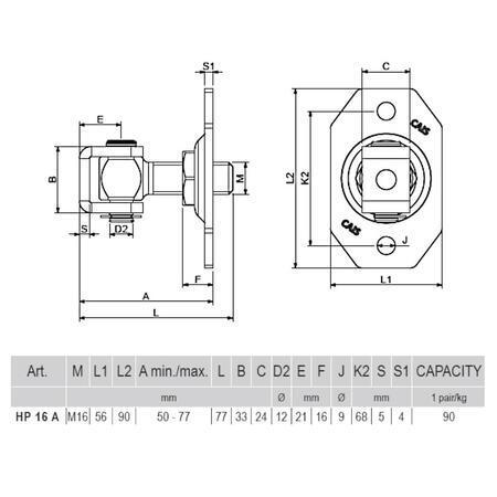 CA HP 16 A - pant regulovatelný do 45 kg - 2