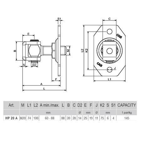 CA HP 20 A - pant regulovatelný do 72 kg - 2