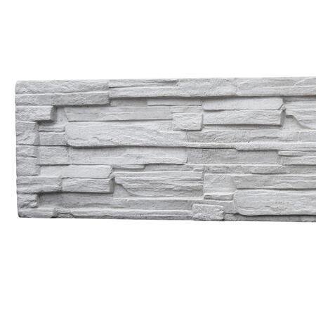 Betonový panel EXCLUSIVE štípaný kámen 1-str. přírodní 2000x400x40 mm - 2