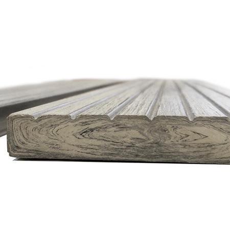 Dřevoplast WPC drážkovaná greywood rovná 70x11 mm - 2