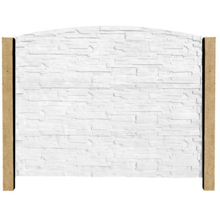 Betonový sloupek hladký koncový pískovec 1000 mm, Nadzemní výška 1000 mm - 2