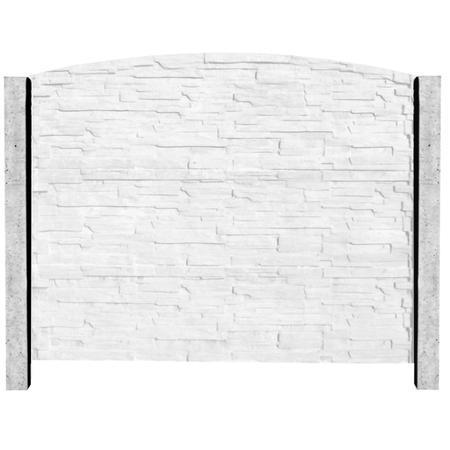 Betonový sloupek hladký koncový přírodní  2500 mm, Nadzemní výška 2500 mm - 2