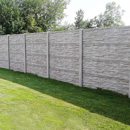 Betonový panel štípaný kámen 2-str. přírodní  2000x250x40 mm - 2