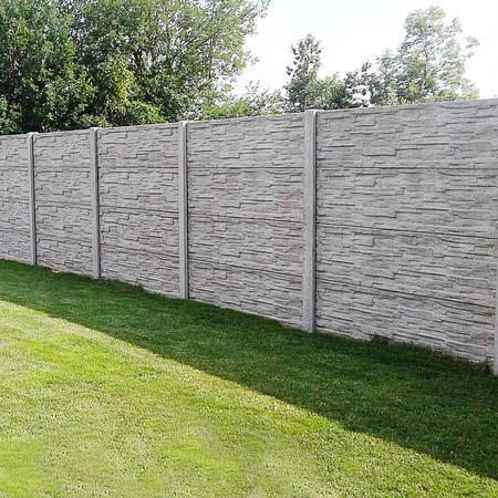 Betonový panel štípaný kámen 1-str. přírodní  2000x600x40 mm oblouk - 2