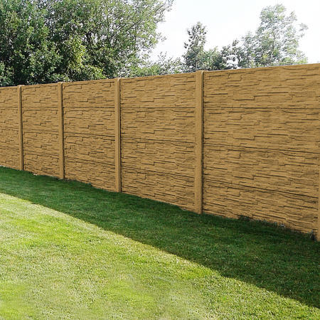 Betonový panel štípaný kámen 1-str. pískovec  2000x600x40 mm oblouk - 2