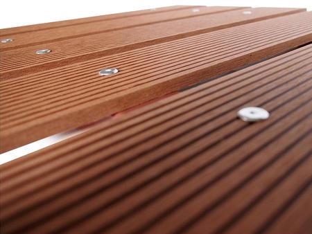Dřevoplast WPC drážkovaná zlatý dub rovná 100x10 mm - 2