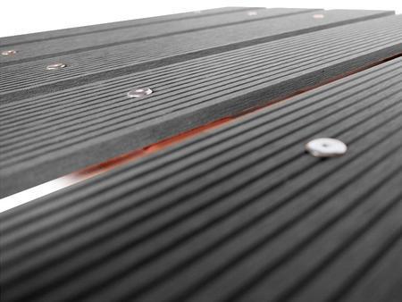 Dřevoplast WPC drážkovaná šedá rovná 100x10x1450 mm, Délka 1450 mm - 2
