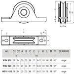 CA WSV 820 - pojezdové kolečko profilu V - 2/2