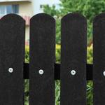 Recyklát černá půlkulatá 78x21x1200 mm, Výška 1200 mm - 2/3