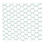 Chovatelské šestihranné pletivo Zn+PVC 1000, 25x25mm, drát 0,8 mm - 2/3