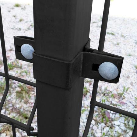 Úchyt panelu ke sloupku 60x40 mm průběžný Zn+PVC antracit - 2