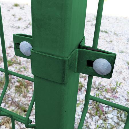 Úchyt panelu ke sloupku 60x40 mm průběžný Zn+PVC zelený - 2