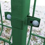 Úchyt panelu ke sloupku 60x40 mm průběžný Zn+PVC zelený - 2/2