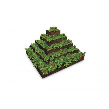 Recyklát pyramida na jahody - 2