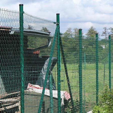 Sloupek poplastovaný DAMIPLAST®48/2 zelený vč.čepičky, 2400 mm - 2