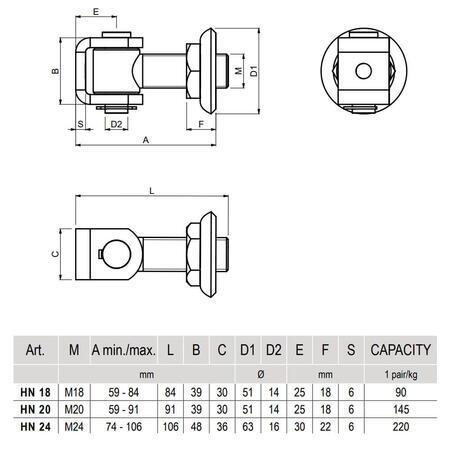 CA HN 24 - pant regulovatelný do 110 kg - 3