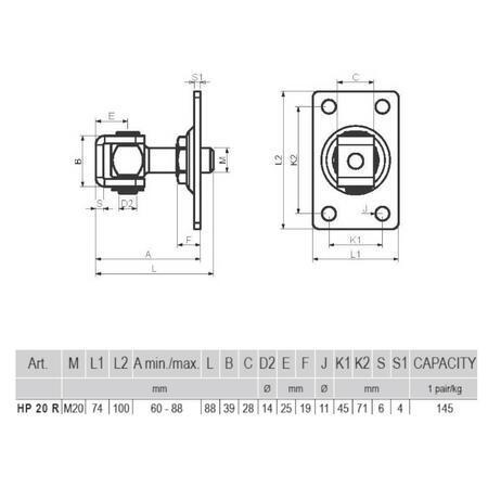 CA HP 20 R - pant regulovatelný do 72 kg - 3