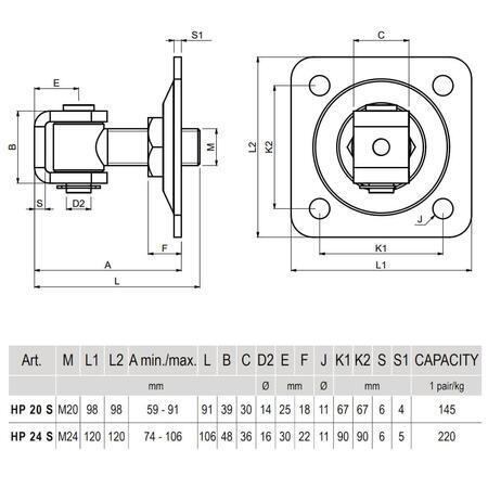 CA HP 24 S - pant regulovatelný do 110 kg - 3