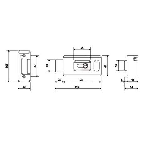 CAM LOCK 81 - zámek elektrický jednostranný - 3