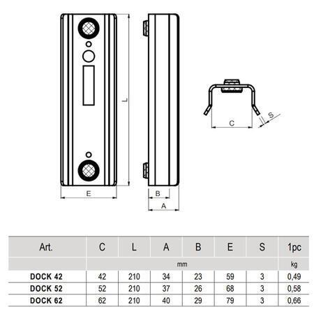 CA DOCK 52 - dojezdová kapsa pro hákový zámek - 3