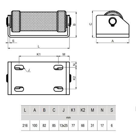 CA DRIVESHAFT 150 - konzole s kladkou - 3