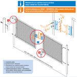 Brána Ideal II 3021 mm, čtyřhranné pletivo, FAB, zelená - 3/3