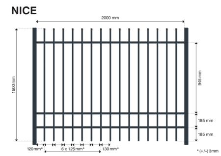 Plotové pole NICE 1500 mm, Výška 1500 mm - 3