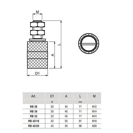 CA RB 30 - horní vodící kladka černá - 3