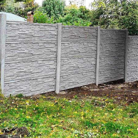 Betonový panel štípaný kámen 1-str. přírodní  2000x600x40 mm oblouk - 3