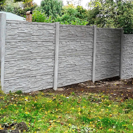 Betonový panel štípaný kámen 1-str. přírodní  200x50x4 - 3