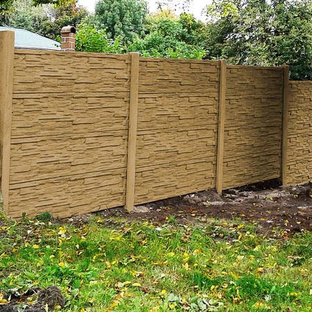 Betonový panel štípaný kámen 2-str. pískovec  2000x600x40 mm oblouk - 3