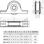 CA WSO 824 - pojezdové kolečko profilu C - 3/3